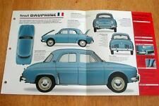 1957 RENAULT DAUPHINE SEDAN UNIQUE IMP BROCHURE