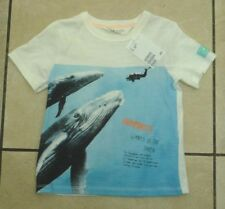 H&M Kids Childrens Humpback Whale T Shirt Size 1.5-2 Years BNWT RRP £9.98 Blue
