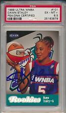 1999 Ultra WNBA  DAWN STALEY  HOF Signed RC #101 PSA/DNA 6.5 Rookie Auto 879
