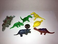 Lot of 7 - Vintage Dinosaur Figurine Toys (1970's) -- A-9