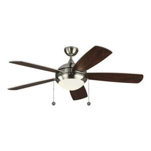 """Monte Carlo 5DIC52BSD-V1 Discus Classic 52"""" Ceiling Fan with Advanced LED Light"""