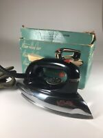 VINTAGE General Electric Steam & Dry Iron CAT. NO. 38F50 120v 1100 WATTS