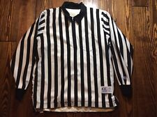 Men's CLIFF KEEN Referee Jersey Striped 1/4 Zip Lined Black White Rain Jacket XL