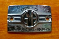 HOLDEN CHEVROLET NASCO seat squab badge