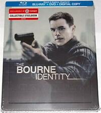 THE BOURNE IDENTITY (Blu-ray/DVD, 2014, 2-Disc Set, Steelbook) New / Sealed
