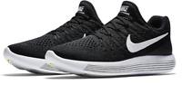Nike Lunarepic Low Flyknit 2 Running Shoes Black White 863780-001 $140 Womens 11