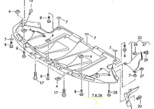 Audi A6 A6Q 02 - 05 OEM Engine Splash Shield Guard 4B0863821S GENUINE