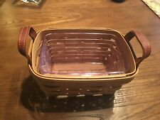 Longaberger Tea Basket w/ Protector- New in wrapper- 2004
