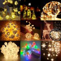 Christmas Warm White  Wedding Xmas Party Decor Outdoor Fairy String Light Lamp