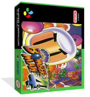 - Bomberman 4 Snes Replacement Game Case Box + Box Cover Art Artwork Only