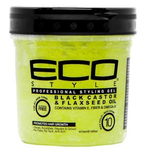 ECO Professional Styling Gel Castor & Flaxseed Oil 16oz - AU stock