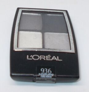 L'OREAL Pressed Powder EyeShadow Quad All Eyes BLACKENED SMOKES 936 Seal