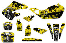 Honda CR125 98-99 CR250 97-99 Dirt Bike Graphic Kit Decal Sticker Wrap REAP YLLW