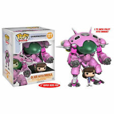 "FUNKO POP VINYL OVERWATCH D.VA AND MEKA PINK 6"" SUPERSIZE VINYL FIGURE"