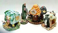 Collectible Easter Bunny Village Bundle set of 4