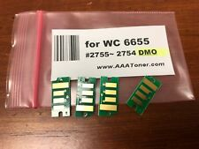 4 Standard Toner Chip for Xerox WorkCentre 6655 Refill (2755 - 2754) - DMO