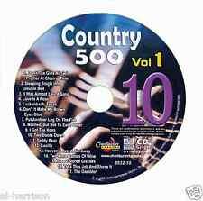 KARAOKE CHARTBUSTER CD+G COUNTRY 500 CB8532 VOL.1 DISC # 10