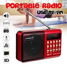 Mini Radio Portable FM Receiver Haut Parleur + 18650 Batterie USB Chargeur Câble