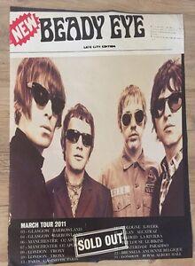 Beady Eye - Gig poster, London, Glasgow, Manchester, Paris. 2011 Liam Gallagher