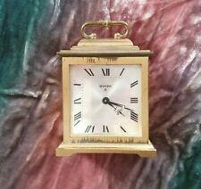 Vintage Swiza 8 Day Carriage Clock with Alarm    Desk. Shelf. Bedroom