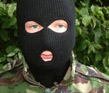 1Pc Black Wool SAS Style 3 Hole Balaclava Army Mask Paintball Outdoor Snowboard