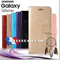 Etui coque housse OWL DREAM CATCHER wallet case cover Samsung Galaxy (all models