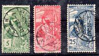 Switzerland 1900 UPU fine CDS used set #71, 72, 73 WS11574