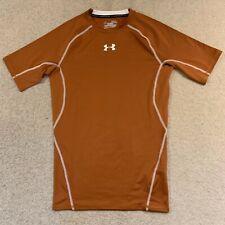 Under Armour Heatgear compression men's gym fitness top in brown - medium size