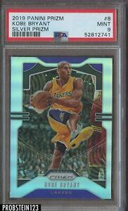 2019 Panini Silver Prizm #8 Kobe Bryant Los Angeles Lakers HOF PSA 9 MINT