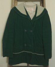 Girl's Vintage Nationally Known Trail Tracer Outerwear Green Corduroy Coat.