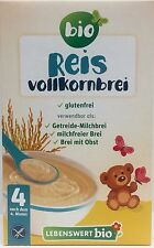 Lebenswert Wholegrain Rice Porridge Organic Baby Cereal 225g FREE PRIORITY MAIL