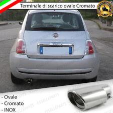 TERMINALE SCARICO CROMATO LUCIDO OVALE ACCAIO INOX FIAT 500 CINQUECENTO