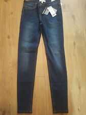 Mango Ladies 5 Pocket Skinny Regular Waist Olivua Blue Jeans Uk Size 12 Bnwt