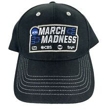 New listing March Madness NCAA CBS Sports Promo Cotton Embroidered Adj. Strapback Hat Cap