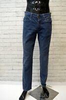 CARLO CHIONNA 9.2 Pantalone Blu Cotone Elastico Taglia 42 Jeans Uomo Pants Men