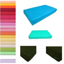 Box Square Shape Cover*100% Pure Cotton bed Soft Fine Cushion Case Custom Size