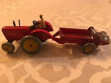VINTAGE 1950s Dinky Toys Massey Harris Tractor and Manure Spreader Red