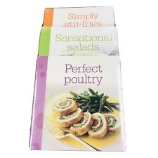 Cookbooks x 3 Perfect Poultry ~ Sensational Salads ~ Simply Stir-Fry's BN Sealed