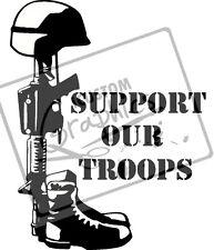 ESERCITO, sostenere le nostre truppe in Vinile Adesivo Grafica per auto, SPECCHI, finestre o muri