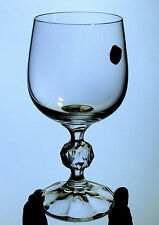 BOHEMIA Import Associates BALL STEM wine goblet CLAUDIA pattern CZECH crystal