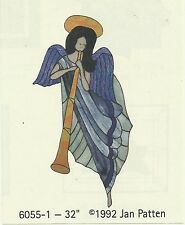 "Stained Glass Pattern Angel 32"" The Carousel Collection #6055-1 Angel Pattern"