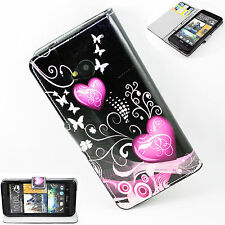 Leather With Card Holder Soft Silicone Flip Cover Case For HTC ONE M7 810e New