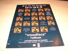 CROWDED HOUSE - WOODFACE!!!!!!!!!!!!!PUBLICITE / ADVERT