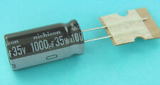 10pcs Nichicon PW 1000uF 35v 105c Radial Electrolytic Capacitor  Low Impedance
