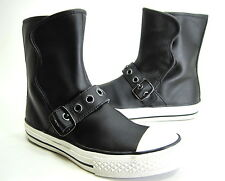 Converse CT AS Buckle Boot, Black Leather, Unisex, Juniors US Size 13 Medium