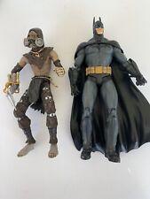 "dc collectibles Batman Arkham Asylum Batman And Scarecrow Loose 7"""