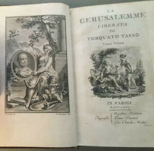 Tasso la Gerusalemme liberata, Parigi, Deladain Durand Molini 1771 illustrato