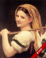 BEAUTIFUL GIRL WOMAN SMILING HUNTING BIRD CATCH CANVAS GICLEE 8X10 ART PRINT