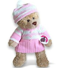 Teddy Bear Clothes fit Build a Bear Pink Knitted Dress Plus Hat Clothing Outfit