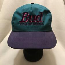 Vintage Bud King of Beers Budweiser Snapback Hat Cap